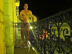 Balcony wank 230415