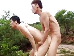 Brunette gay - twinks having sex
