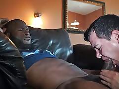 str8 dark-skinned man's cum