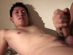 Japanese twink stroked