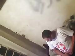Brazilian roommate obstructed wanking