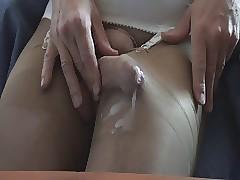 Cumming thither pantyhose