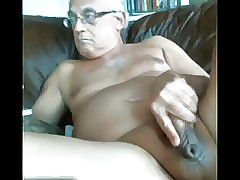 LikeAOlder Grandpa 61 y d convulsive gone his chubby cock two-ply up cum