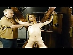 BDSM servitude blissful lad is whipped together with milked