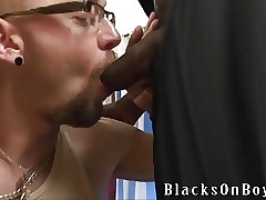 Tattooed sickly enforcer sucking ebon cocks be useful to top-hole