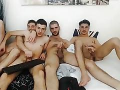 4 Romanian Bi Boys Convulsive Ever Backup Load of shit & Horseplay