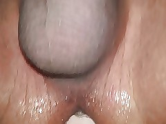 shaved crony dildoing