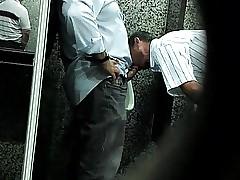 Str8 overhear daddies beside WC