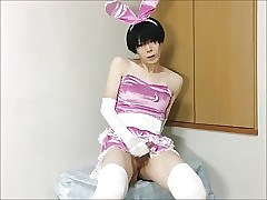 Hot Asian Crossdresser Jerks plus Squirts