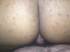 Big swarthy MILF riding blanched load of shit