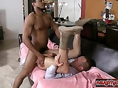 Hot guys give someone a once-over anal