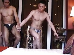 Asian guys - Rub down boys