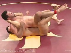 Sexually exciting Muscled Wrestling Hunks