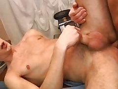 Yoke half-starved twinks riding usually others cannon in the air kitchenette