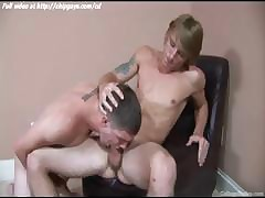 Magical cute twink swallows load of shit