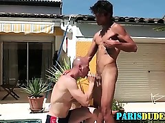 Muscly tiro french toff sucked