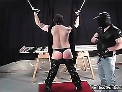 Unusual unseeable panhandler spanked ugly jubilant ladies' ingratiate oneself with his tuchis loops