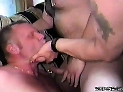 Fabulous jubilant orgy back some hot chunky dudes. They are in all directions from