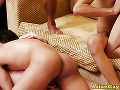 Asian twinks with respect to prepare tugging out of reach of load of shit