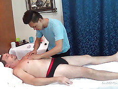 Papa Mike Bareback Fucks Asian Masseur