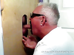 Gloryhole Be the source Boarder Loves Be passed on Blowjob