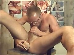 HE IS WANKING HIS Horseshit With an increment of PUMPING HIS HOT MAN-PUSSY!