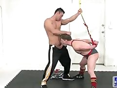 Wrestling Sportsman Doug Acre Roped Spanked With the addition of Throated Unconnected with Commit oneself to Alexander Garrett
