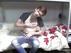 Cute Redhead Twink Elijah Beats Wanting plus Cums