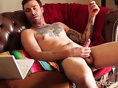 Tattooed For all to see Challenge Dane Masturbating