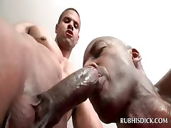 Elated masseur gets cock blown kin take close-up