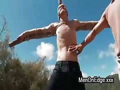 Blindfolded jubilant roughly boonies anal fucked